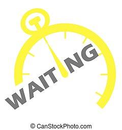 αναμονή , κίτρινο , εικόνα