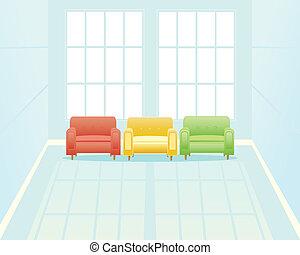αναμονή , παράθυρο , δωμάτιο