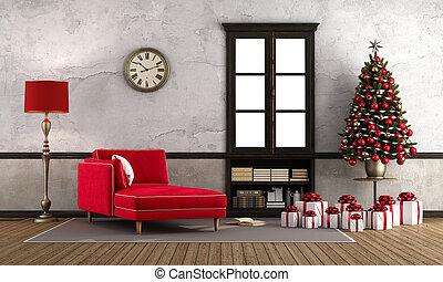 αναμονή , xριστούγεννα , δωμάτιο , retro