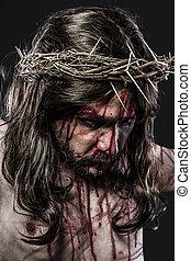 αναπαράσταση , από , ο , δυνατός πόθος από ιησούς χριστός