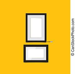 αναπαριστώ αποτελώ το πλαίσιο , επάνω , κίτρινο , wall., μικροβιοφορέας , eps10