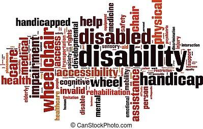 αναπηρία , λέξη , σύνεφο