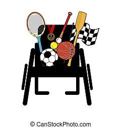 αναπηρική καρέκλα , αθλητισμός