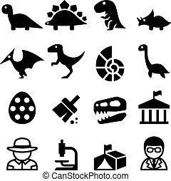 ανασκαφή , δεινόσαυρος , & , εικόνα