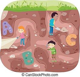 ανασκαφή , μικρόκοσμος , stickman