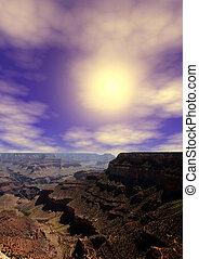 ανατολή , διακεκριμένος φαράγγι arizona