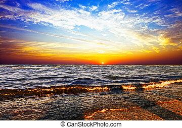 ανατολή , μέσα , ο , θάλασσα
