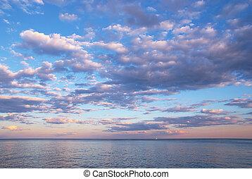 ανατολή , πάνω , θάλασσα , τοπίο , ομορφιά