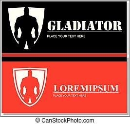 ανατομία , άντραs , περίγραμμα , μυώδης , icon., shield.