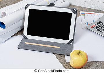 αναφερόμενος σε ψηφία δέλτος , με , μήλο , επάνω , ο , γραφείο