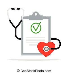 αναφορά , diagnosis., ιατρικός , στηθοσκόπιο