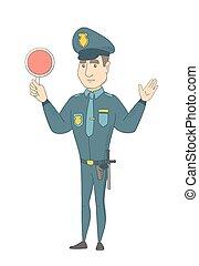 αναχωρώ. , κυκλοφορία , καυκάσιος , κράτημα , αστυνομικόs