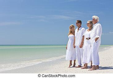 ανδρόγυνο , οικογένεια , δυο , μαζί , τροπικός , αμπάρι ανάμιξη , παραλία , γένεση