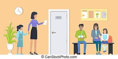 ανεκτικός , αναμονή , μικροβιοφορέας , δωμάτιο , εικόνα