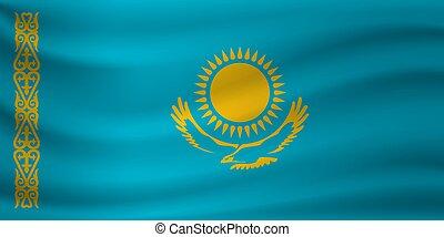 ανεμίζω , μικροβιοφορέας , kazakhstan., εικόνα , σημαία