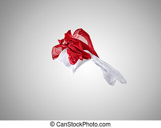 ανεξάρτητος , γκρί , φόντο. , κομψός , λείος , ένδυμα , άσπρο , διαφανής , κόκκινο