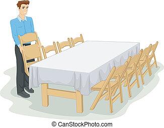 ανεπίσημος , βάζω στο τραπέζι αναθέτω