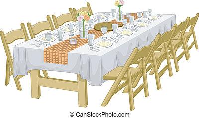 ανεπίσημος , τραπέζι , setup