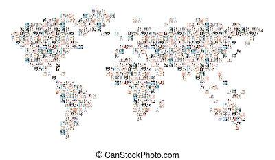 ανθρώπινη ζωή και πείρα αντιστοιχίζω , από , πολοί , διαφορετικός , ιατρικός , στοιχεία , με , ένα , γιατροί , εργαζόμενος , μέσα , hospital., καθολικός , φάρμακο , και , διεθνής , φαρμακευτικός , επιχείρηση , concept.