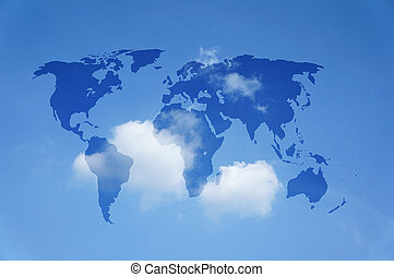 ανθρώπινη ζωή και πείρα αντιστοιχίζω , με , ένα , γαλάζιος ουρανός