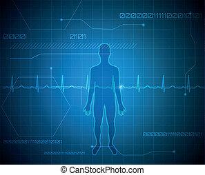ανθρώπινος , περίγραμμα , αφαιρώ , μπλε , τεχνολογία , φόντο