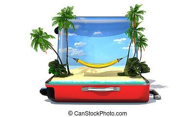 ανοίγω , αποσκευές , διακοπές , γενική ιδέα