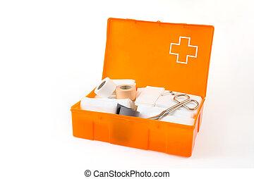 ανοίγω , κουτί πρώτων βοηθειών , απομονωμένος , αναμμένος αγαθός , φόντο