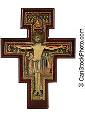 αντίγραφο έργου τέχνης , από , san , damiano, σταυρός