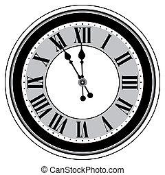 αντίκα , απομονωμένος , ρολόι