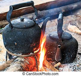 αντίκα , καφέs , doi , δοχείο , inthanon, παραδοσιακός , nati, crema