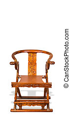 αντίκα , κινέζα , πτυσσόμενος , chair.