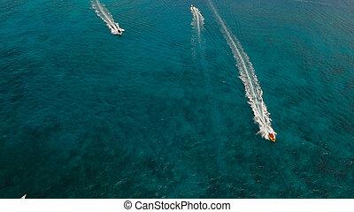 αντίκρυσμα του θηράματοσ. , νησί , θάλασσα , εναέρια , boracay , κρισ-κραφτ , philippines.