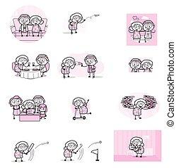 αντίληψη , μικροβιοφορέας , γιαγιά , διευκρίνιση , - , γριά , διάφορος , κόμικς
