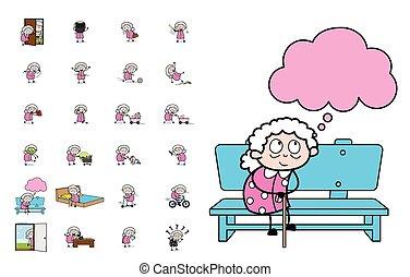 αντίληψη , μικροβιοφορέας , γιαγιά , διευκρίνιση , - , γριά , θέτω , διάφορος , γελοιογραφία