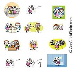 αντίληψη , μικροβιοφορέας , γιαγιά , διευκρίνιση , - , γριά , θέτω , διάφορος , κόμικς