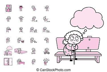 αντίληψη , μικροβιοφορέας , γιαγιά , διευκρίνιση , χαρακτήρας , - , γριά , θέτω , κρασί