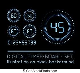 αντίστροφη μέτρηση , μετρών την ώραν , ψηφιακός
