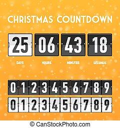 αντίστροφη μέτρηση , xριστούγεννα , μετρών την ώραν