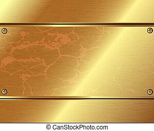 αντίτυπον χαρακτικής , αφαιρώ , φόντο , χρυσός , μεταλλικός