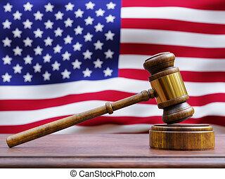 αντιμετωπίζω , σφύρα πρόεδρου , σημαία , αμερικανός