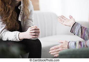 ανυπάκοος , γυναίκα , θεραπεία , κατά την διάρκεια