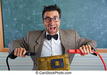 ανόητος , retro , τεχνίτης , επιστήμη των ηλεκτρονίων , έκφραση , nerd