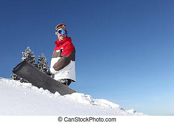 ανώτατος , αόρ. του stand , snowboarder , λόφος