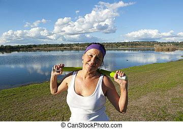 ανώτερος γυναίκα , βάροs , ασκήσεις
