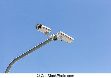 αξίες κάμερα , γαλάζιος ουρανός , δυο
