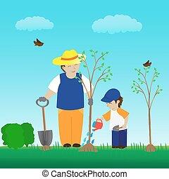 απάτη αγχόνη , κήπος , οικογένεια