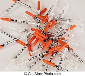 απέρριψα , ενισχύω , syringes