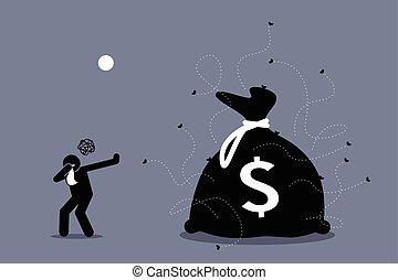 απαίσιος , δικός του , χρήματα , περιβάλλω , αποβάλλω , μύτη...