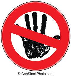 απαγόρευση , σήμα , κίνδυνοs