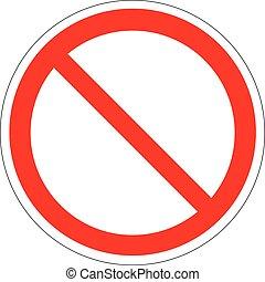 απαγόρευση , σήμα , φόρμα